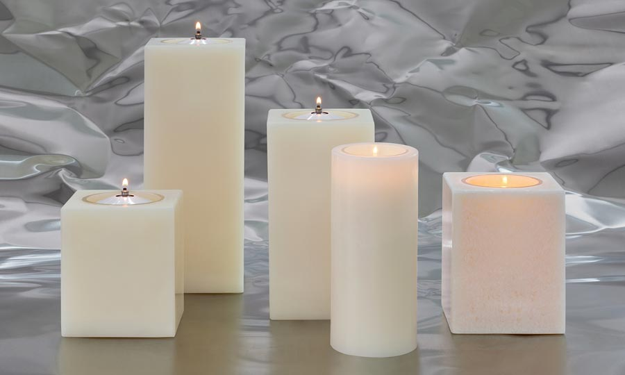 effect candles, oil-wax candles